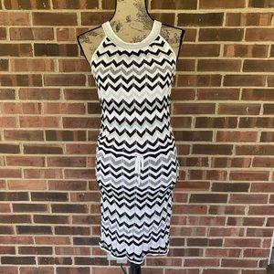 White House Black Market striped sweater dress